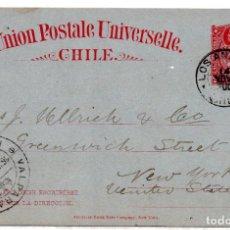 Sellos: CHILE, ENTERO POSTAL CON COLON DE 3 CENTAVOS IMPRESO. Lote 186007965