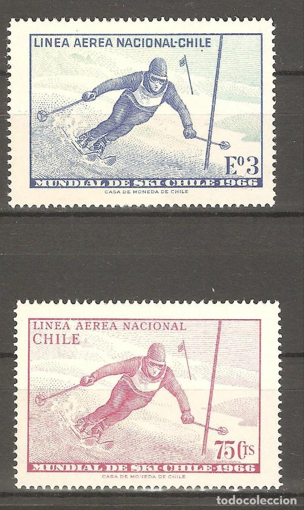 CHILE,1966,2 V,NUEVOS,G.ORIGINAL,SIN FIJASELLOS YT 232/233,GOMA ALGO DETERIORADA. (Sellos - Extranjero - América - Chile)