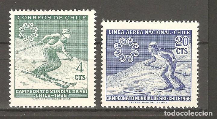 CHILE,1966,2 V,NUEVOS,G.ORIGINAL,SIN FIJASELLOS YT 309/PA 225. (Sellos - Extranjero - América - Chile)