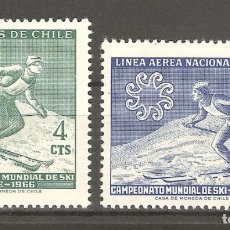 Sellos: CHILE,1966,2 V,NUEVOS,G.ORIGINAL,SIN FIJASELLOS YT 309/PA 225.. Lote 186113658
