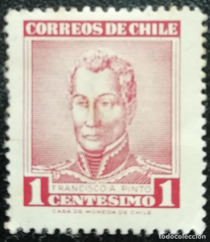 1960. HISTORIA. CHILE. 281. GENERAL FRANCISCO PRIETO. SERIE CORTA. USADO. (Sellos - Extranjero - América - Chile)