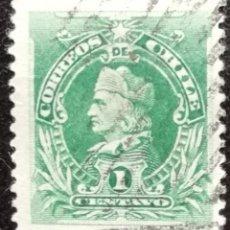 Sellos: 1901. CHILE. 42. CRISTÓBAL COLÓN, DESCUBRIDOR DEL CONTINENTE AMERICANO. SERIE CORTA. USADO.. Lote 186387042