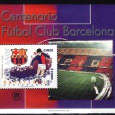 Sellos: CHILE 1999 CENTENARIO FUTBOL CLUB BARCELONA HB. Lote 187705341