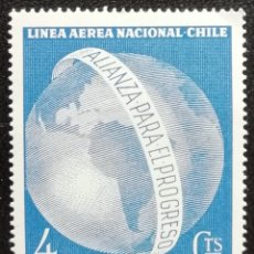 Sellos: 1963. AVIACIÓN. CHILE. A 217. LÍNEA AÉREA NACIONAL. HOMENAJE JOHN F. KENNEDY. SERIE COMPLETA. NUEVO.. Lote 187800258