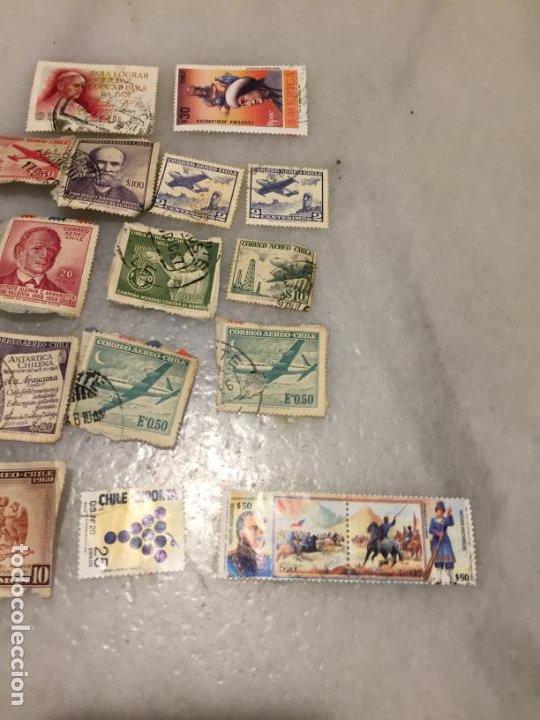 Sellos: Antiguo lote de sello / sellos de Chile matasellados, varios años 50-60-70-80-90 - Foto 3 - 188608226