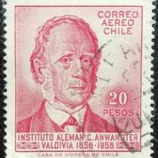 Sellos: 1959. CHILE. A 181. CARLOS ANWANDTER, LÍDER DE LOS COLONOS ALEMANES EN CHILE. USADO.. Lote 188687617