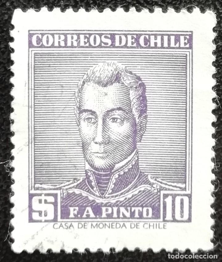 1956. CHILE. 262. CELEBRIDADES. GENERAL PINTO. USADO. (Sellos - Extranjero - América - Chile)