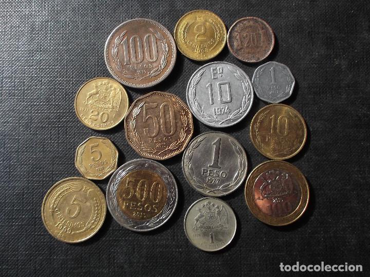 Sellos: conjunto de monedas de Chile en buen estado ver fotos - Foto 2 - 199674871