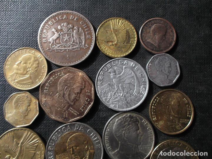 Sellos: conjunto de monedas de Chile en buen estado ver fotos - Foto 3 - 199674871
