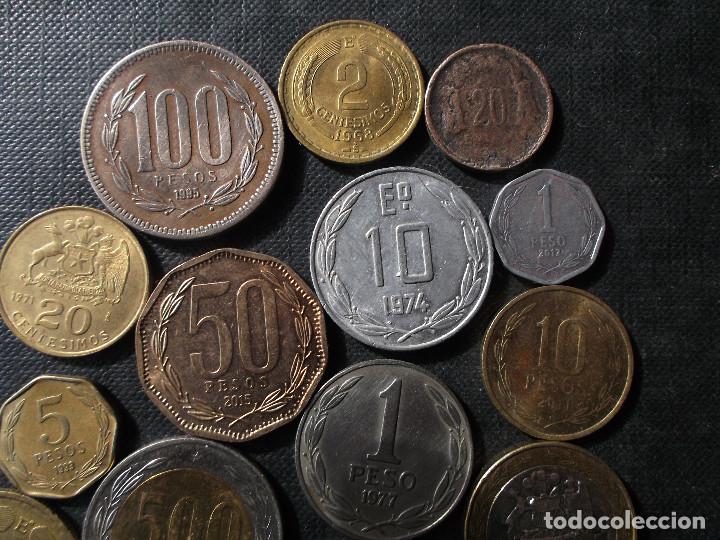 Sellos: conjunto de monedas de Chile en buen estado ver fotos - Foto 5 - 199674871
