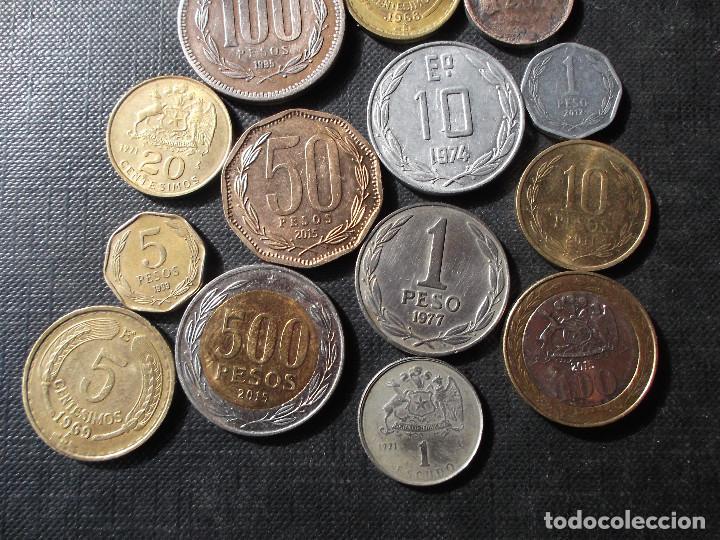 Sellos: conjunto de monedas de Chile en buen estado ver fotos - Foto 6 - 199674871