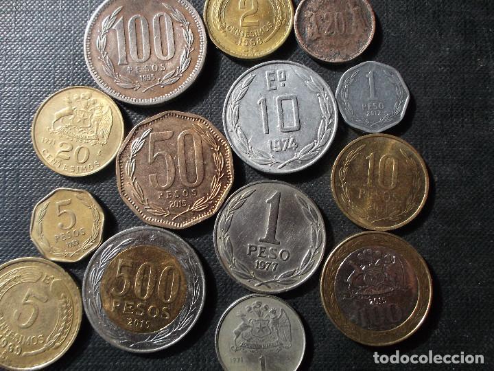 Sellos: conjunto de monedas de Chile en buen estado ver fotos - Foto 7 - 199674871
