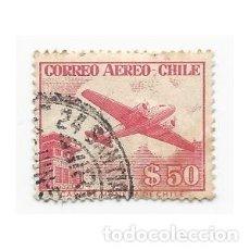 Sellos: SELLO CHILE CORREO AÉREO $ 50. Lote 203579438