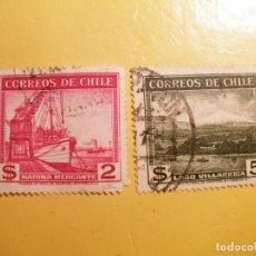 Sellos: CHILE - MARINA MERCANTE Y LAGO VILLARICA.. Lote 205513683