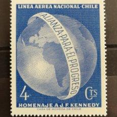Sellos: CHILE, HOMENAJE A J.F.K 1964 MNH (FOTOGRAFÍA REAL). Lote 211528766