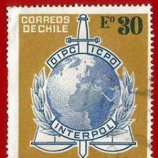 Sellos: CHILE. 1973. INTERPOL. Lote 222407850