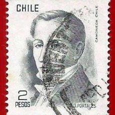 Sellos: CHILE. 1977. DIEGO PORTALES. Lote 222407963