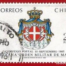 Sellos: CHILE. 1983. ORDEN MILITAR DE MALTA. Lote 222408423