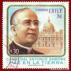 Sellos: CHILE. 1983. CARDENAL ANTONIO SAMORE. Lote 222408528