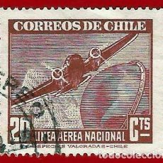 Sellos: CHILE. 1954. AVION BIMOTOR. Lote 222430087