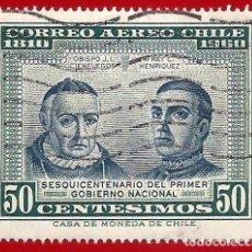 Sellos: CHILE. 1965. PRIMER GOBIERNO NACIONAL.. Lote 222433017