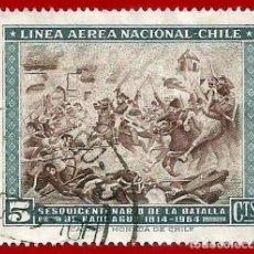 Sellos: CHILE. 1965. BATALLA DE RANCAGUA. Lote 222433183
