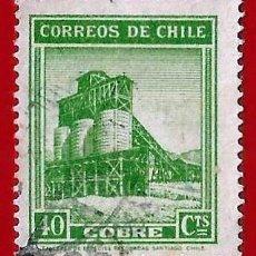 Sellos: CHILE. 1939. MINA DE COBRE. Lote 222455526