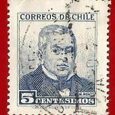 Sellos: CHILE. 1960. MANUEL MONTT. Lote 222456120