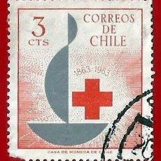 Sellos: CHILE. 1963. CRUZ ROJA INTERNACIONAL. Lote 222456403