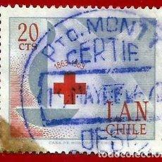 Sellos: CHILE. 1963. CRUZ ROJA INTERNACIONAL. Lote 222457670
