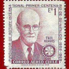 Sellos: CHILE. 1970. ROTARY INTERNACIONAL. Lote 222458280