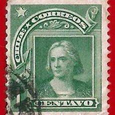 Sellos: CHILE. 1905. CRISTOBAL COLON. Lote 222557668