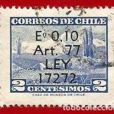 Sellos: CHILE. 1970. VOLCAN CHOSHUENCO. SOBRECARGADO. Lote 222574883