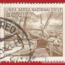 Sellos: CHILE. 1965. BARCOS DE PESCA. Lote 222578127
