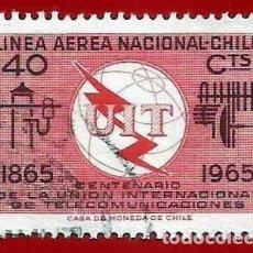 Sellos: CHILE. 1965. UNION INTERNACIONAL DE TELECOMUNICACIONES. Lote 222579876