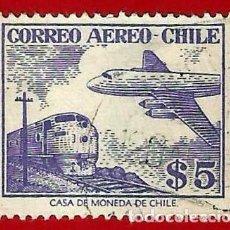 Sellos: CHILE. 1956. AVION Y TREN. Lote 222580417