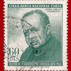 Sellos: CHILE. 1965. UNIVERSIDAD CATOLICA DE CHILE. MONS. VILLANUEVA. Lote 222584541