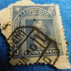 Sellos: CRISTOBAL COLON 1905 5 CENTAVOS 5 CENTAVOS DE CHILE A. Lote 223033987