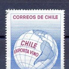 Sellos: CHILE, EXPORTA VINO. Lote 227058870