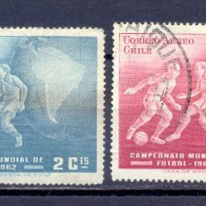 Sellos: CHILE,1962, USADOS. Lote 227060620