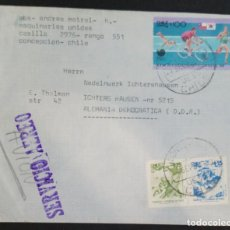 Sellos: O) 1988 CHILE, OLYMPIC SEOUL, BICYCLE, SWIMMING, CYCLING, RUNNING, TALES AND LEGENDS, AIRMAIL TO G. Lote 227779180