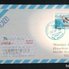 Sellos: O) 2002 CHILE, METER STAMP, WHALE ORCINUS ORCA, ANTARCTIC FAUNA, AIRMAIL CERTIFICATE FROM PUNTA AREN. Lote 227783520