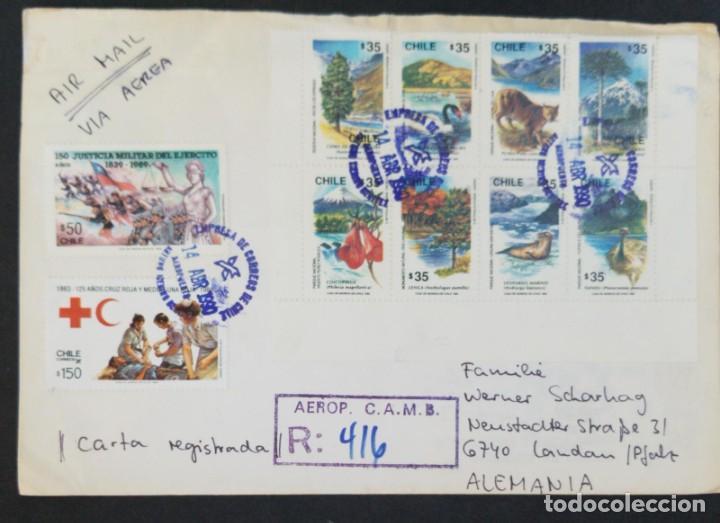O) 1990 CHILE, CRUZ ROJA, ENFERMERA, MISIÓN HUMANITARIA, JUSTICIA MILITAR DEL EJÉRCITO, JUSTICIA MIL (Sellos - Extranjero - América - Chile)