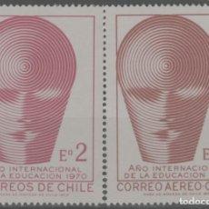 Sellos: LOTE (2) SELLOS CHILE NUEVOS SIN CHARNELA. Lote 227843775