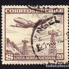 Sellos: AMÉRICA. CHILE. CORREO AÉREO. SERIE BÁSICA 1951-55, YT149. USADO SIN CHARNELA. Lote 233120430