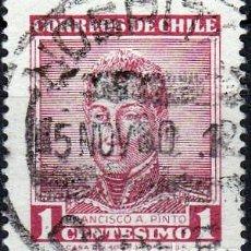 Sellos: 1960 - CHILE - CELEBRIDADES - FRANCISCO A. PINTO - YVERT 281. Lote 234965560