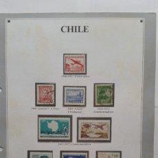 Sellos: HOJA CON SELLOS DE CHILE. Lote 235361415