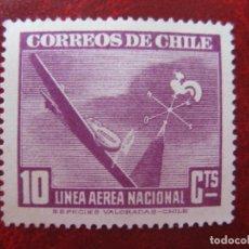 Sellos: *CHILE, 1942, YVERT 70 AEREO. Lote 237165320