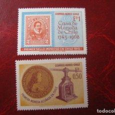 Sellos: *CHILE, 1968, 225 ANIV. CASA DE LA MONEDA, YVERT 253/54. Lote 237169610