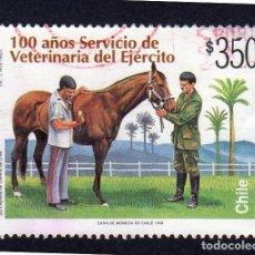 Sellos: AMÉRICA. CHILE. 100 AÑOS. SERVICIO DE VETERINARIA DEL EJÉRCITO. YT 1446. USADO SIN CHARNELA. Lote 238171100